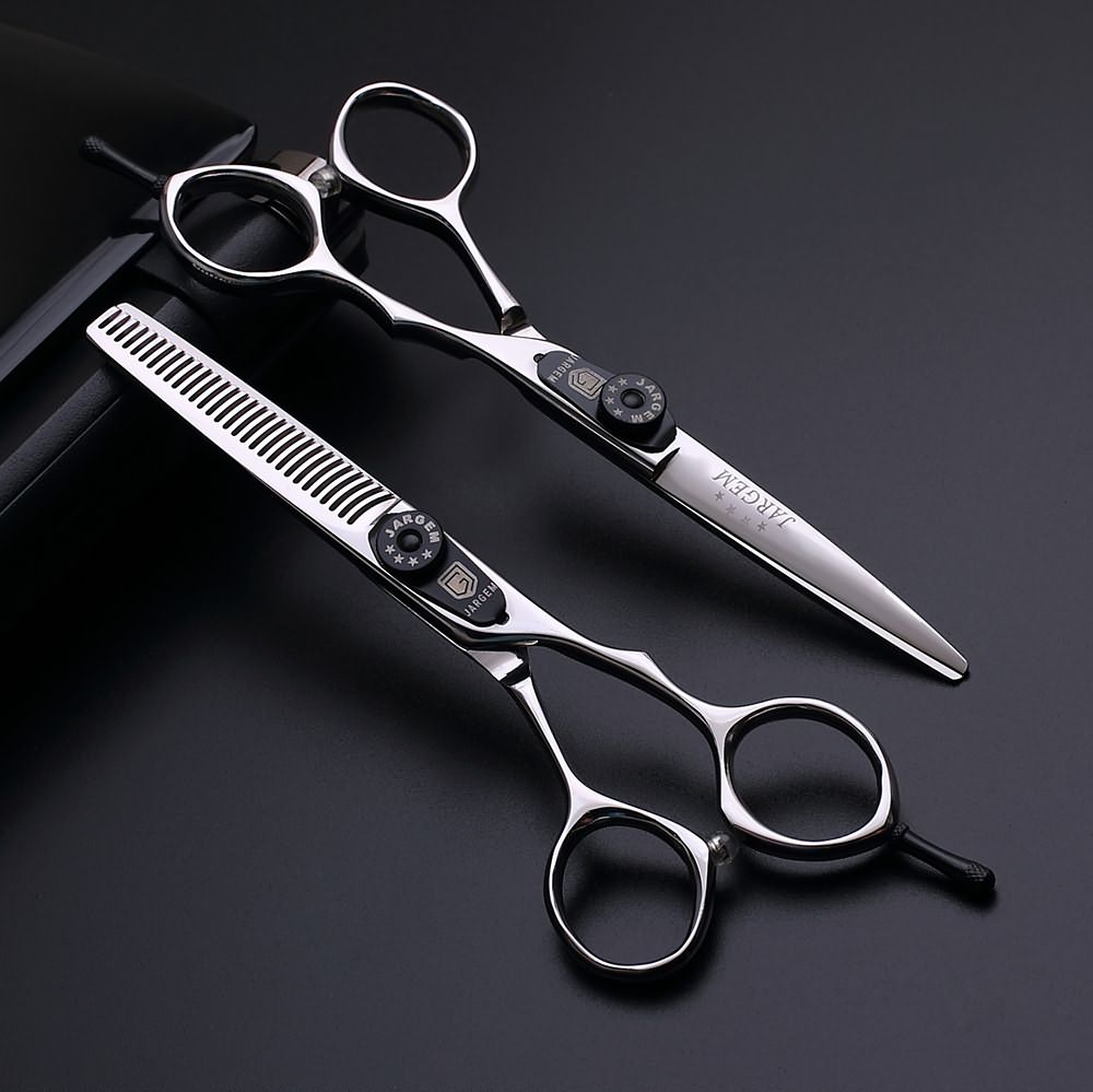 Original design barber scissors set for hairdressers