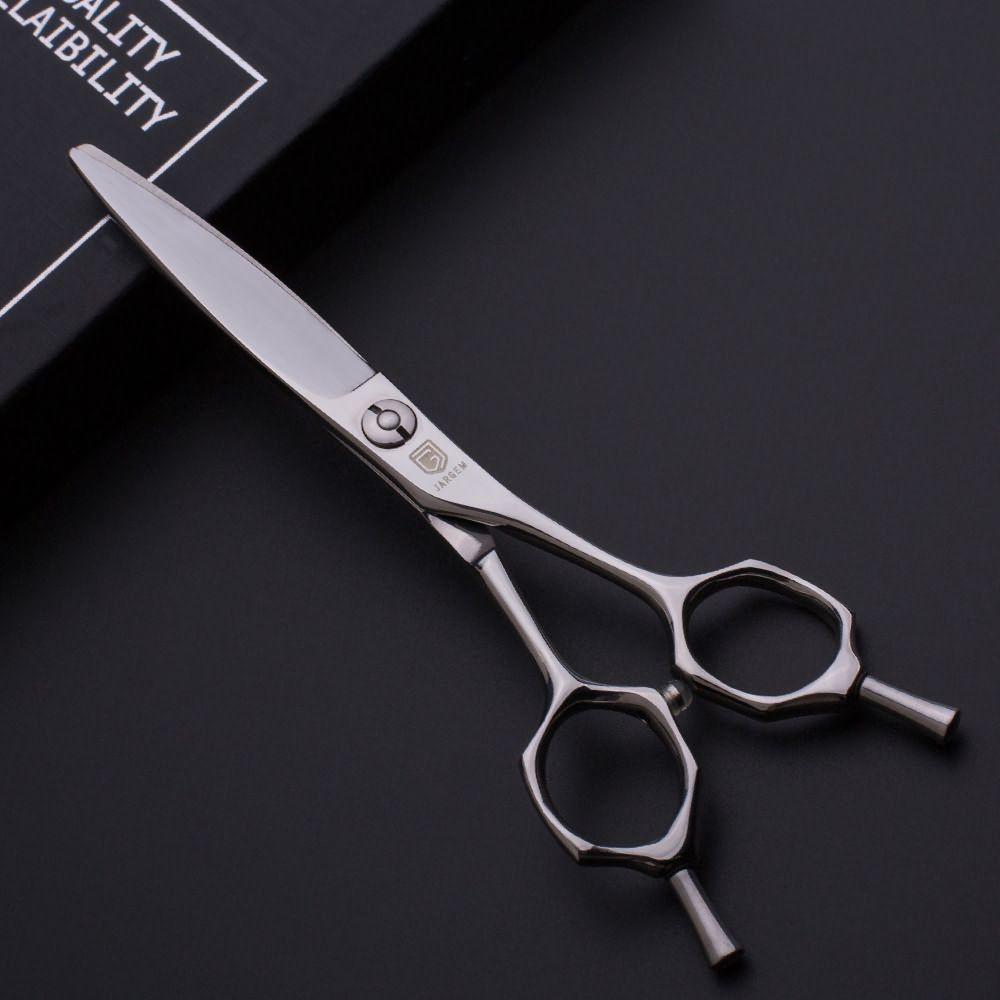 Curved handle design hairdressers scissors for sliding cutting  - Hair Cutting Scissors