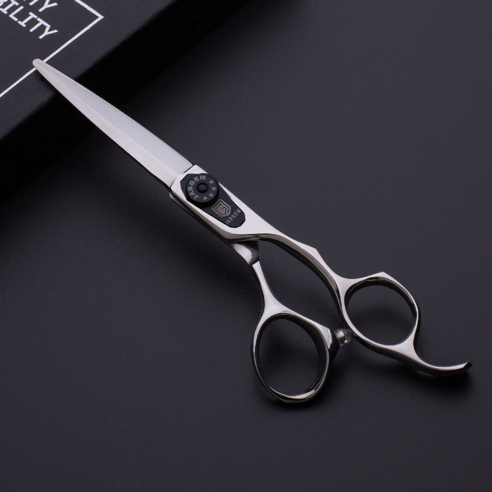 New design sword blade hair cutting scissors