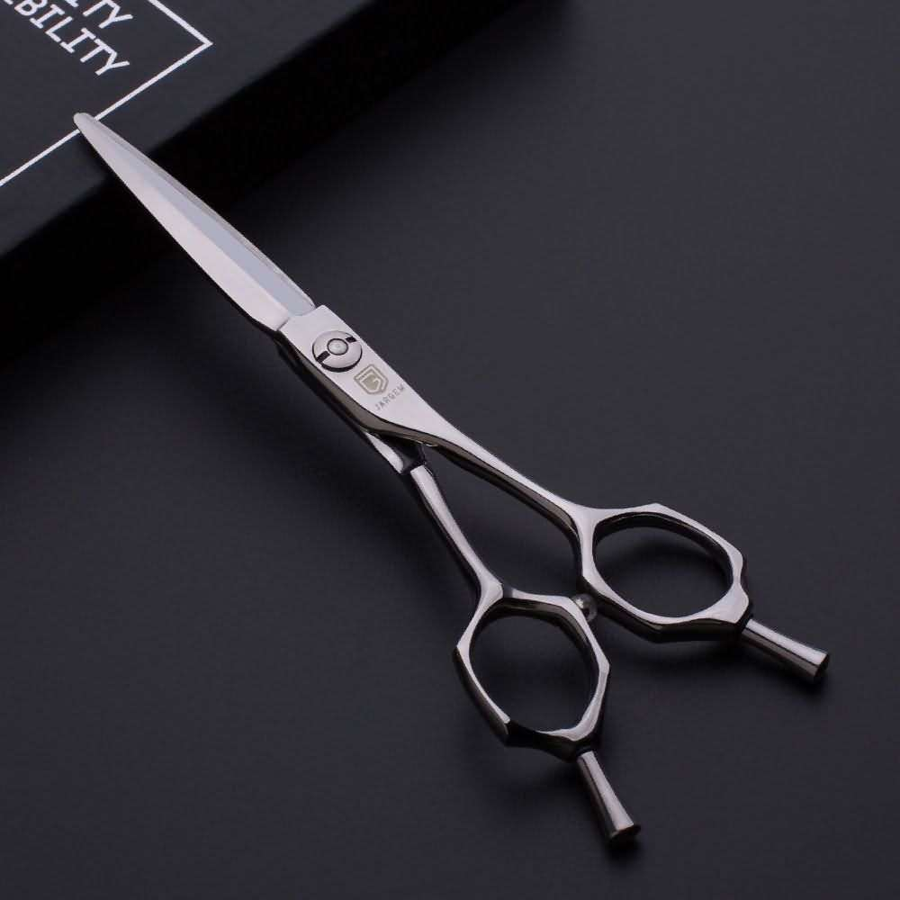 New design curved handle barber scissors