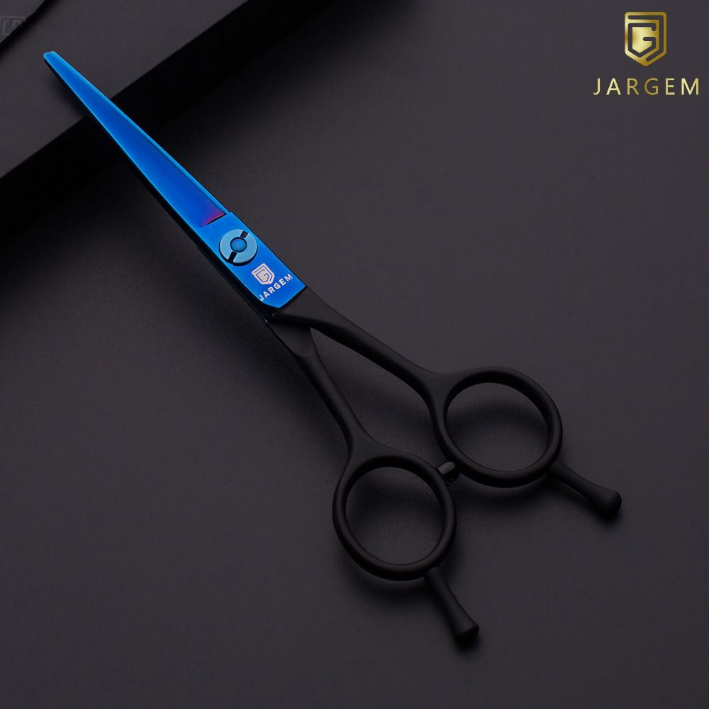 New design black&blue coated hair scissors