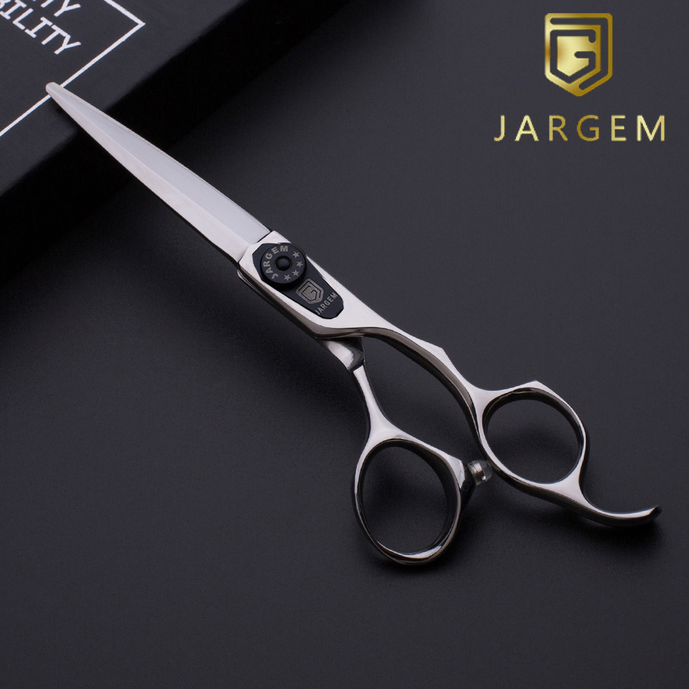 Sword blade smooth cutting barber scissors in 6.0