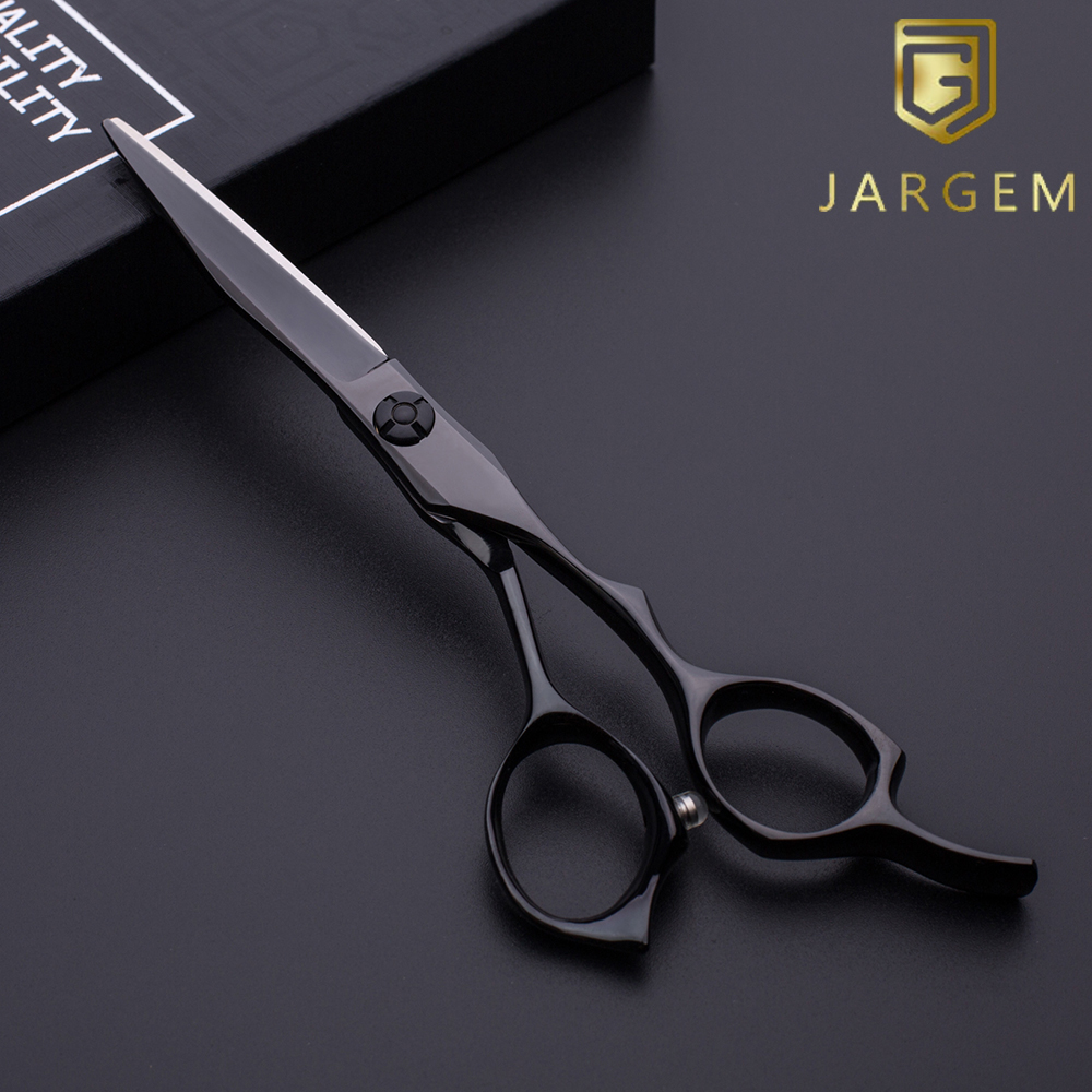 Small MOQ Japan VG10 black coated hair scissors in 5.75 inch