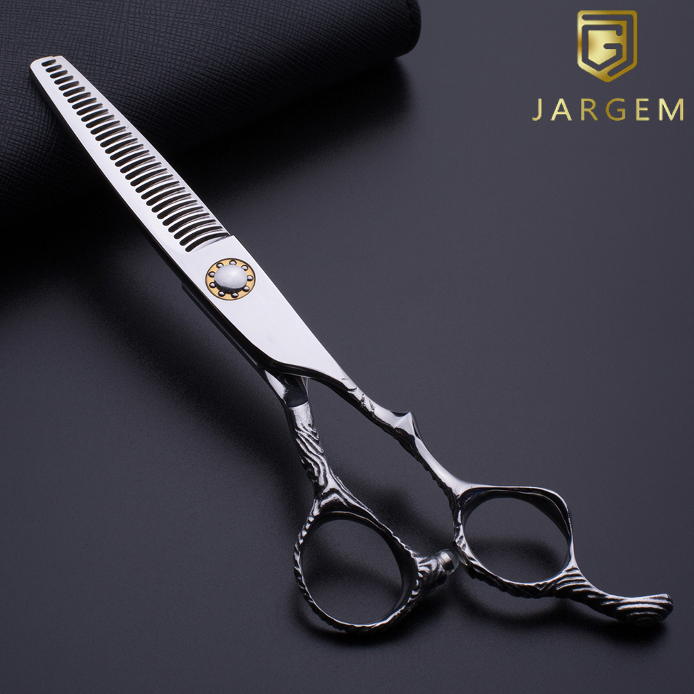 Special handle ball bearing screw hair thinning scissors