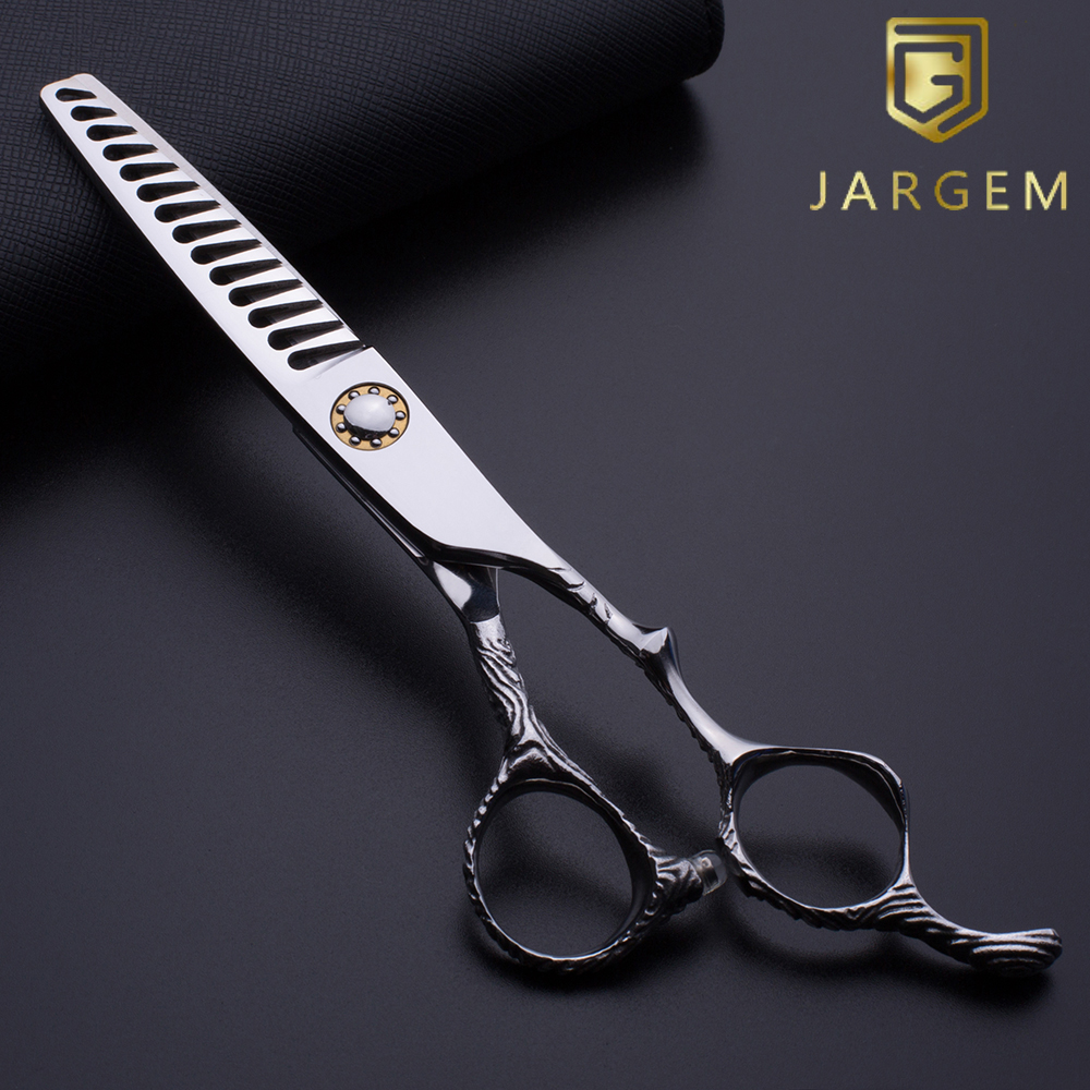 Engrave handle ball bearing screw hair thinning scissors