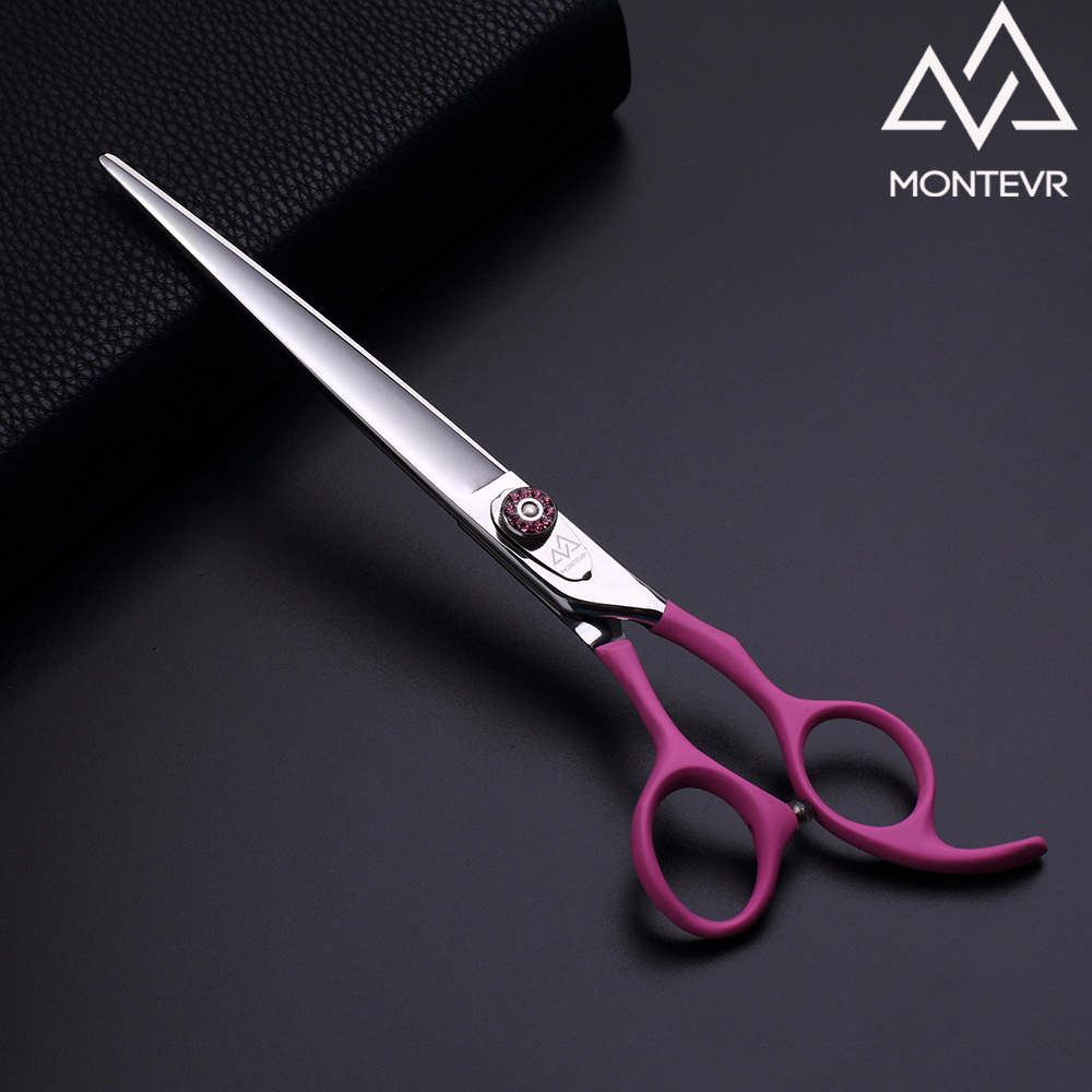 High grade pink coating handle pet grooming shears 7.5 inch