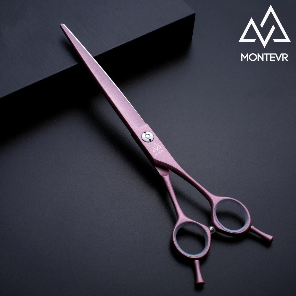 Fine cutting dog scissors pink coated pet grooming shears