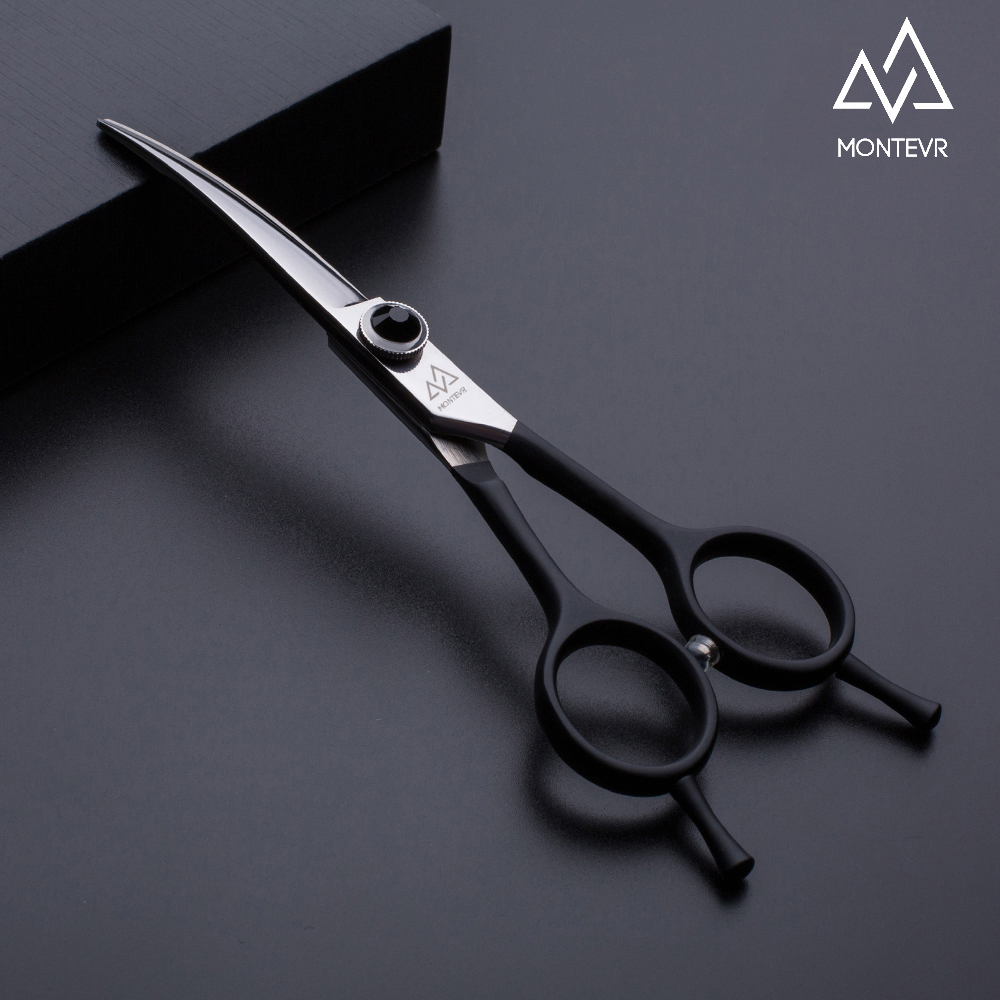 Smart curved design pet grooming shears 5.5 inch dog scissors